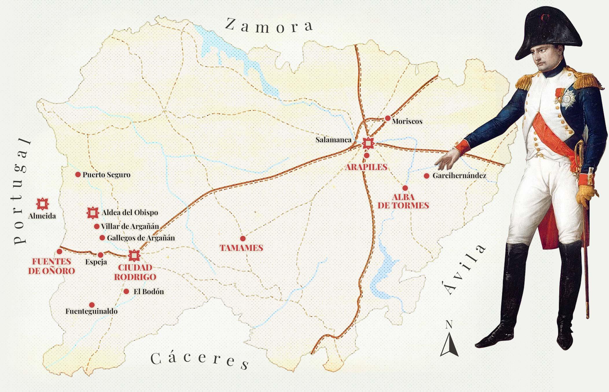 Mapa salamanca Napoleonica NAPO
