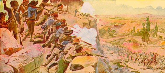los de El Rebollar matando franceses