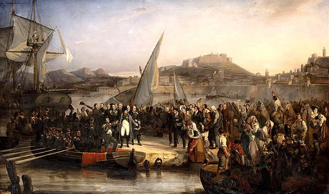 Napoleon leaving Elba Beaume