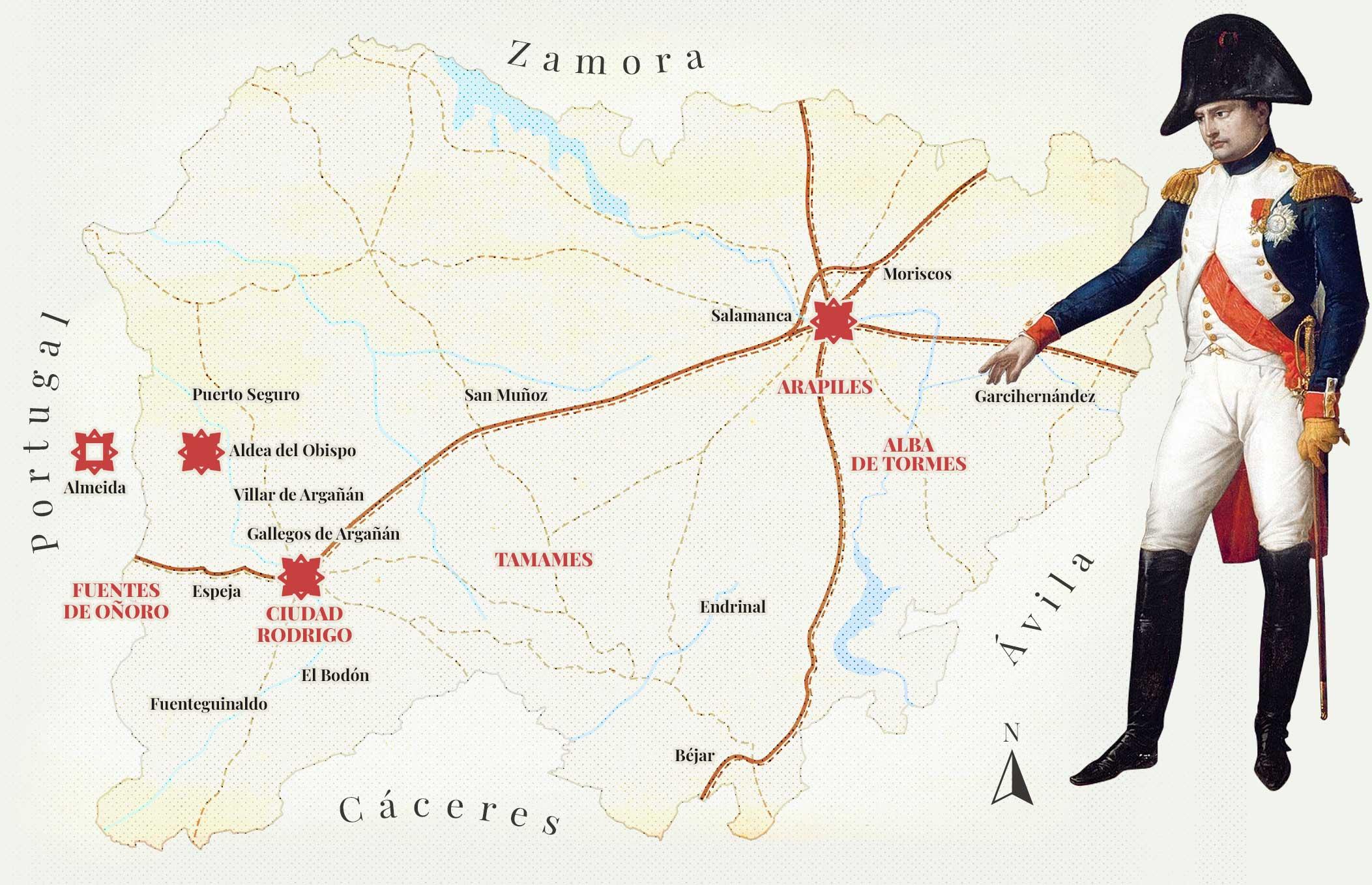 Mapa salamanca Napoleonica grande 1